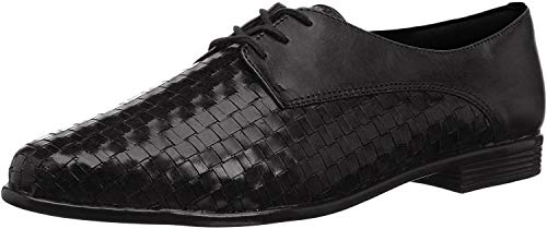 Trotters Lizzie Black Woven/Smooth Leather 9.5 WW (EE)