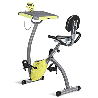 INTEY Exercise Bike With Desktop Magnetic Resistance Fitness Machine Bike Trainer Home Gym Equipment by INTEY