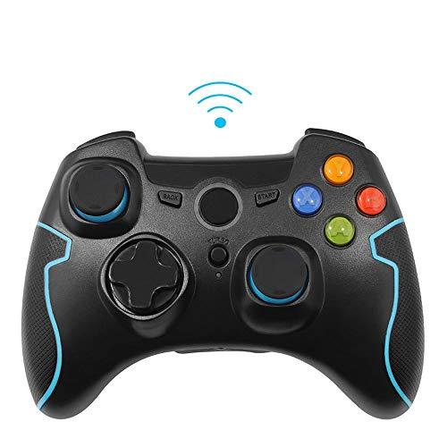 XHMCDZ Manette de Jeu sans Fil, Manette de Jeu sans Fil, Double Vibration pour téléphones PS3 / PC/Android, tablettes, TV Box (Color : Black)