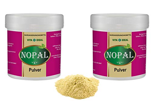 VITAIDEAL ® Nopal PULVER 2x300g (Feigenkaktus, Opuntia ficus indica) + Messlöffel von NEZ-Diskounter