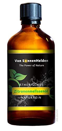 (179,50€/100ml) PREMIUM Ätherisches Zitronenmelissenöl 10ml • Duftöl und Aromaöl z.B. für Wellness, Entspannung, Raumduft, Öllampe, Diffuser, Sauna.