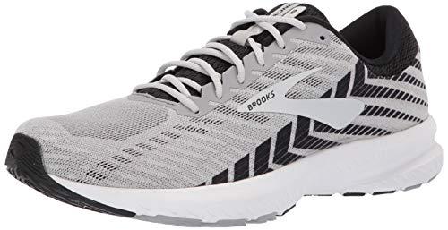 Brooks Mens Launch 6 Running Shoe - Alloy/Black/Grey - 2E - 9.5