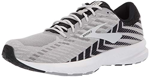 Brooks Mens Launch 6 Running Shoe - Alloy/Black/Grey - D - 11.5