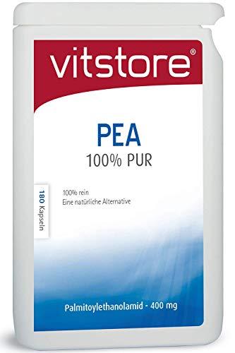 Vitstore PEA 100% Pur 180 Kapseln 400mg Palmitoylethanolamid - Pea pure Kapseln 400 mg (180)