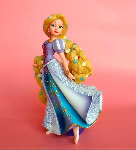 zdfgv De Gama Alta Aisha Reina jazmín Princesa Pelo Largo Princesa Cenicienta Estatua Adorno Modelo Hecho a Mano decoración de Tartas 20CM