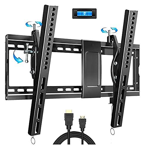 TabloKanvas Inclinación TELEVISOR Diseño de Soporte de Montaje en Pared para la mayoría de 32-86 Pulgadas LED Vs Tiene Capacidad para 165 Libras (Color : Black)