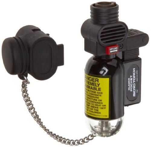 Blazer PB207CR The Torch Butane Refillable Lighter, Black