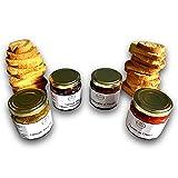 Box apéritif dinatoire – 4 saveurs original différente + 2 sachets de toasts artisanaux - Coffret kit apéro de dégustation 100% fabrication artisanale Française – pour les gourmets et gourmands