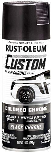 Rust-Oleum 343346-6PK Automotive Spray Paint, 10 Ounce (Pack of 6), Metallic Black, 60 Ounce