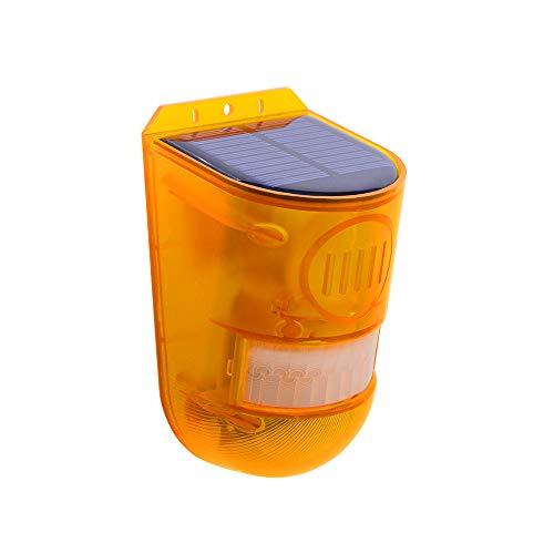 LOOCOO Ip65 bewegingssensor, zonne-alarmlicht, draadloos buitentuinveiligheidslicht, tuinalarm, zonne-bewegingsmelder…