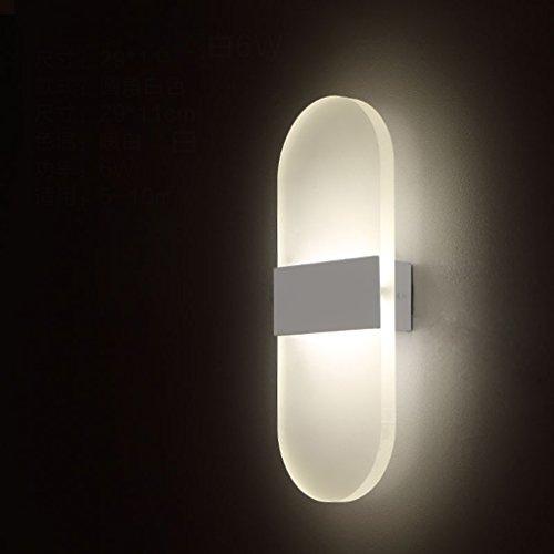 Lampe de chevet Lampe de chevet Chambre à coucher Salon Corridor Aisle Wall Lights (couleur : Blanc)