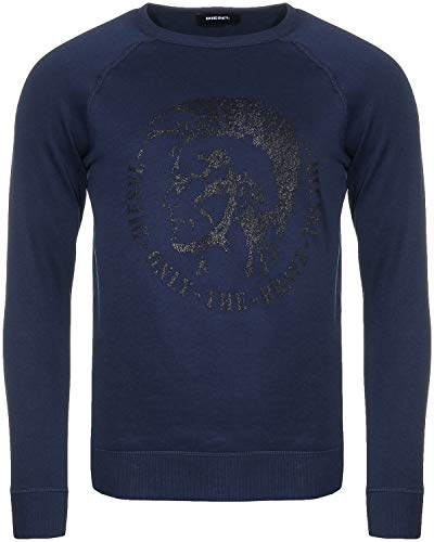 DIESEL Sweat à Logo Bleu Marine S-Orestes