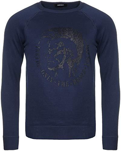 Diesel S-Orestes Herren Men Pullover Sweatshirt Indianer Kopf Blau Blue (XL)