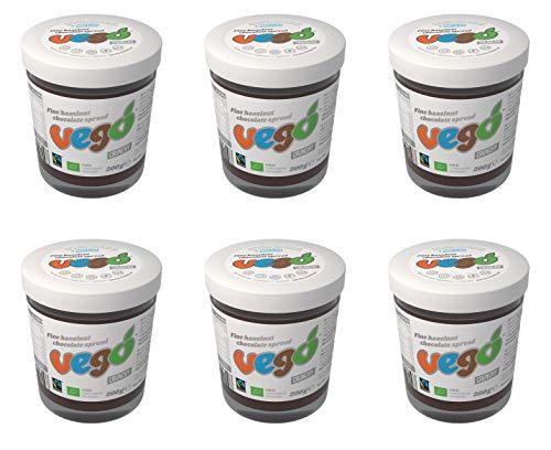 600g Vego Haselnuss Crunchy Brotaufstrich Vegan 3 x 200g