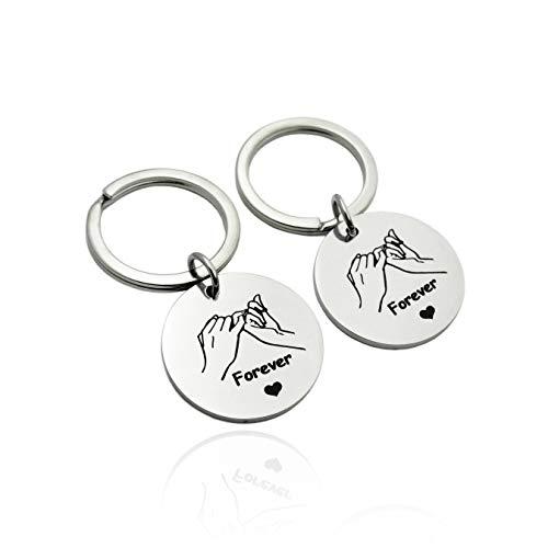 ZUOPIPI Pinky Promise Keychain 2pcs Double Pinky Swear Key Rings Two Secret...