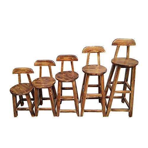 FTFTO Living Decoration Barstühle Barhocker Moderner und stilvoller Barstuhl Mehrere Größen Massivholz Material Einfacher Stil Geeignet für Küche Cafe Wohnzimmer (Größe: Sitzhöhe85cm)