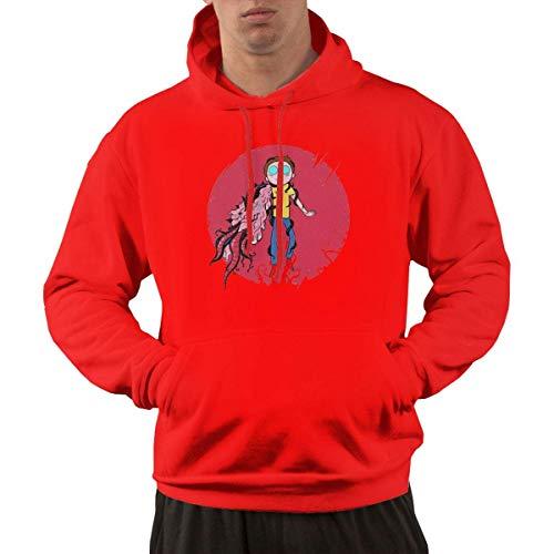 Tengyuntong Hombre Sudaderas con Capucha, Sudaderas, Men's Pullover Hooded Sweatshirt - Anime Morty