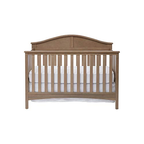 Suite Bebe Tanner 4-in-1 Convertible Baby Crib, Rustic Blossom Grey
