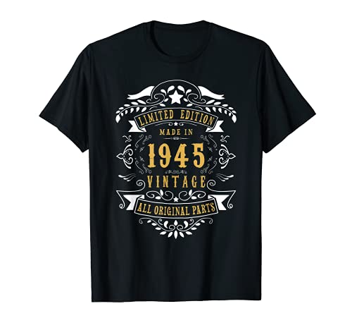 76 years old Made in 1945 76th Birthday Gift Idea Vintage T-Shirt