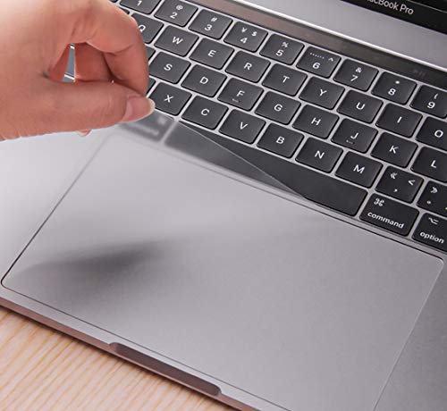 Kratzfeste Trackpad-Schutzfolie mit transparenter Folie für MacBook Pro 13 Zoll (33 cm) mit Touch Bar oder nicht Touch Bar, Modell A1706, A1708, ultraklar, 2 Stück