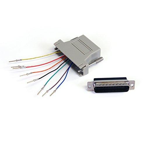 StarTech.com GC258MF - Adaptador conversor Modular Serie DB25 a RJ45 (Macho a Hembra) Color Gris