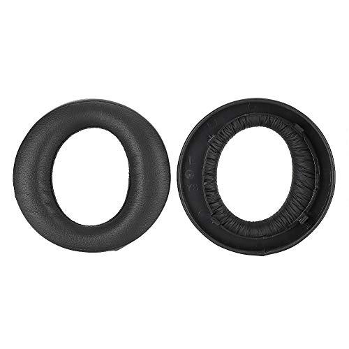 AMONIDA Almohadillas de Repuesto para Almohadilla de Esponja con Memoria Suave y Cómoda para Sony Ps3 Ps4 7.1 Compatibilidad Fuerte Auriculares Dorados(Negro)