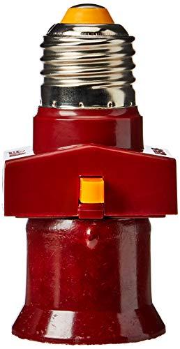 CASQUILLO ADAPTADOR eléctrico de gran tamaño con interruptor BOMBILLA E27 CON 2 ENCHUFES ELECTRICO TOMA DE CORRIENTE