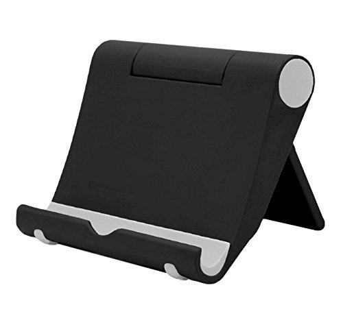 Leuchtbox Multi-Winkel Handyständer Smartphone Ständer Handyhalter für Tablets Phablets E-Reader iPhone iPad bis 10 Zoll Verstellbar (schwarz)