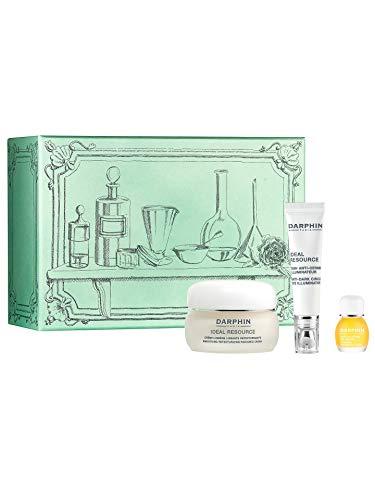 Darphin Geschenk Set, Ideal Resource Glättende und Regenerierende Creme (50ml), Aufheller Gegen Augenringe (15ml), Jasmin Aromapflege Elixier aus Ätherischen Ölen (4ml)
