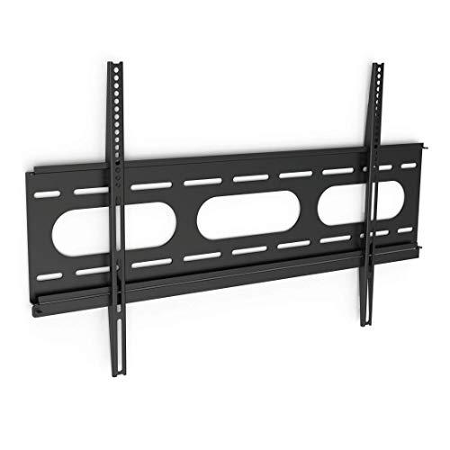 Hama TV-Wandhalterung (für Fernseher von 37 bis 90 Zoll (94 cm bis 229 cm Bildschirmdiagonale), inkl. Fischer Dübel, VESA bis 800 x 500, Wandabstand nur 2,5 cm, max. 75 kg) schwarz