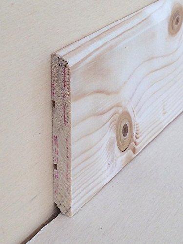 Battiscopa in legno massiccio di abete non trattato mm.70x10x2250 (prezzo per ml. 22,50)