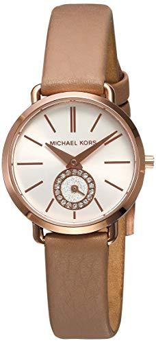 Michael Kors Women's MK2752 Portia Analog Display Mocha Leather Watch
