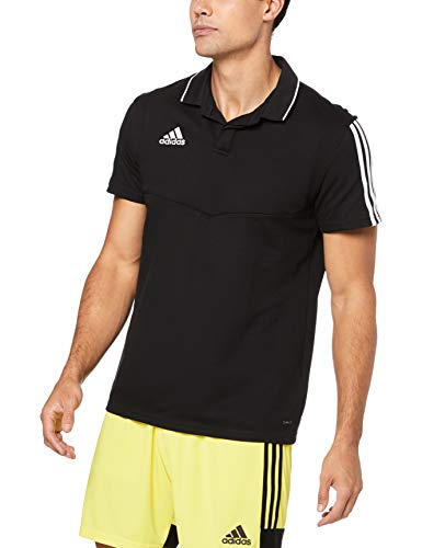adidas Herren TIRO19 CO Polo Shirt, Black/White, L
