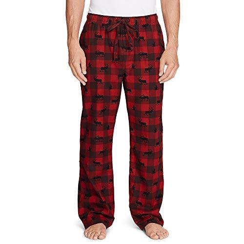 Eddie Bauer Men's Flannel Sleep Pants, Red Clay Regular XXL