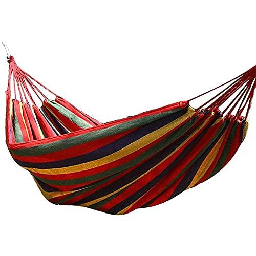 WENTING Hamaca Columpio al Aire Libre Jardín Doble Malla de Seda de Hielo Cama de paracaídas Portátil Picnic Camping Ocio Columpio Silla-A, a