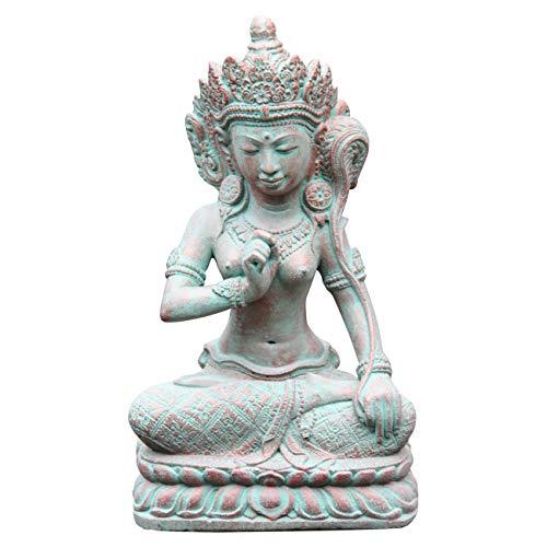 Ciffre Shiva Figur ca. 40cm Antik Look Massiv Steinfigur Skulptur Feng Shui Garten Deko Wetterfest Lawa Steingus