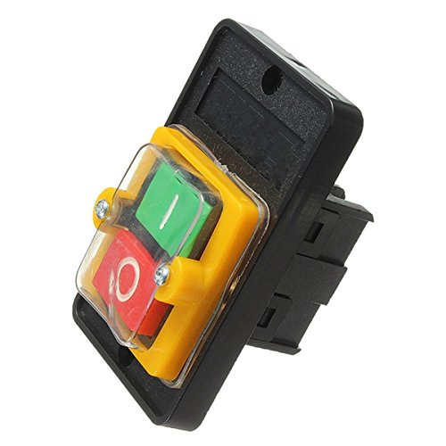 RFElettronica, Interruptor industrial AC 220 V/380 V 10 A impermeable botón ON/OFF KAO-5