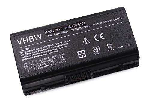 vhbw Batterie 2200mAh (14.4V) pour Notebook Toshiba Equium Satellite Pro L40, L401, L402, L45 remplace PA3591-1BAS, PA3591U-1BRS.