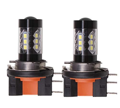 MAMINGBO MMBO 2pcs H15 Auto lampadine 80 W SMD 335 1550 lm 16 proiettori a LED for Volkswagen/Ford Tiguan/Golf/S-Max Tutti Gli Anni