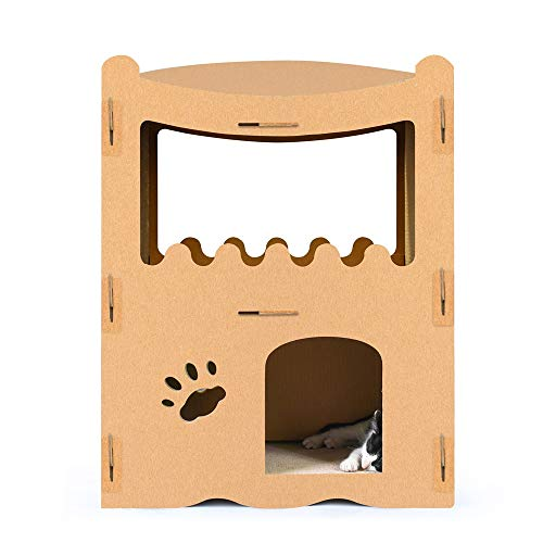 Cat Tree Tower Cat Climbing Tree Cat House Cat Scratch Board Big Cat Villa Corrugated Paper Cat Climbing Tree Cat House Cat Toy Kitten Furniture Activity Centre ( Color : B , Size : 71 x 30 x 53.5cm )