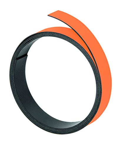 Franken M802 05 Magnetband, 100 cm x 10 mm, Stärke: 1 mm, orange