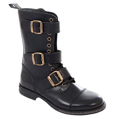 Boots & Braces - 12 Loch 3 Schnallen Steampunk Schuhe Gothik Ranger