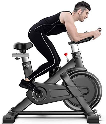 ZOUSHUAIDEDIAN Bicicleta estática, Ciclismo Indoor bicicleta estacionaria, Spin Bike for el hogar Cardio Entrenamiento con sistema de frenos Whisper tranquilo, cómodo cojín del asiento y del volante p
