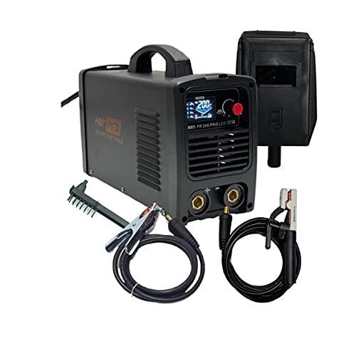 Soldador Inverter HERPRO FR 200PRO LCD, Pantalla LCD, 200 amperios 60% LIFT TIG-HOT START-ANTI STICK-ARC FORCE-VRD-EMC Válido con Generador