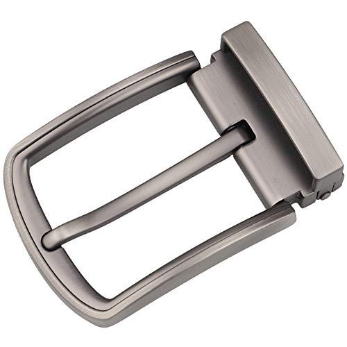 McFanBe Hebilla de Cinturón de 1,5 Pulgadas (38-40 mm) Hebilla de Repuesto Cuadrada de Una Sola Punta para Hombres Mujeres Cinturón (Gris19)