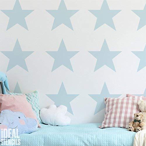 Stern Kinderzimmer Wand Schablone | Kinderzimmer Home Wand Dekorieren Kunst & Handwerk Schablone | Farbe Wände Stoffe & Möbel | 190 Mylar Wiederverwendbare Schablone