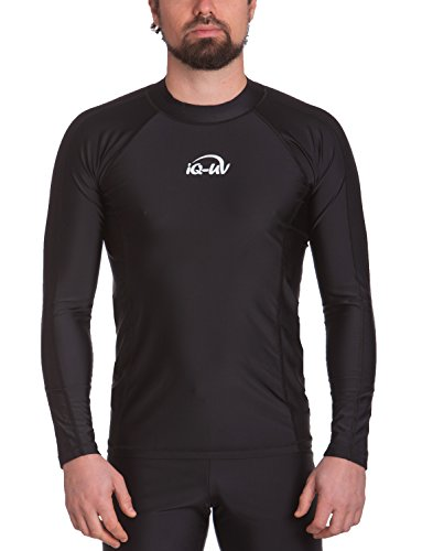iQ-UV Herren UV-Shirt IQ 300 Watersport Long Sleeve Kleidung, Schwarz, XL (54)