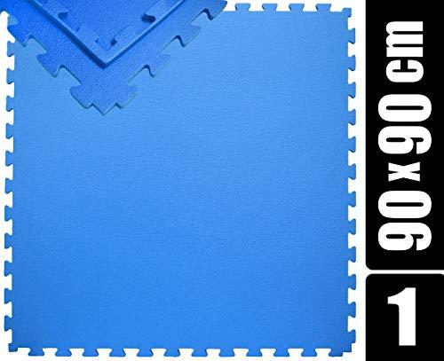 EYEPOWER 90x90 Trainingsmatte - 12mm Bodenmatte mit Rand - Unterlegmatte Sportmatte Gymnastikmatte
