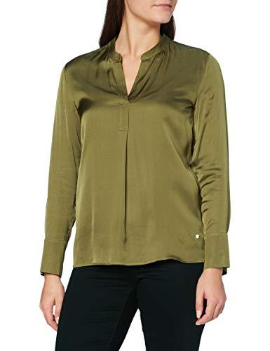 BRAX Damen Style Velvet Bluse, Green (Olive), 34