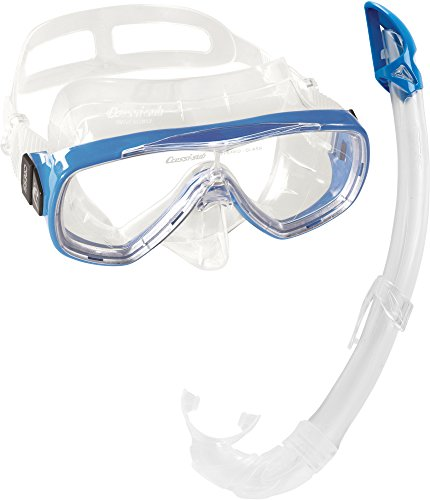 Cressi Unisex-Erwachsene Onda Mare Schnorchelset Tauchset Taucherbrille, Transparent/Blau, Einheitsgröße